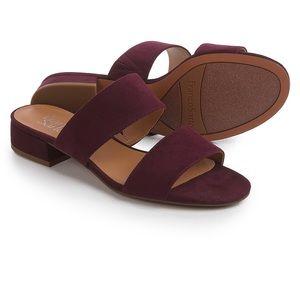 franco sarto faux suede sandals